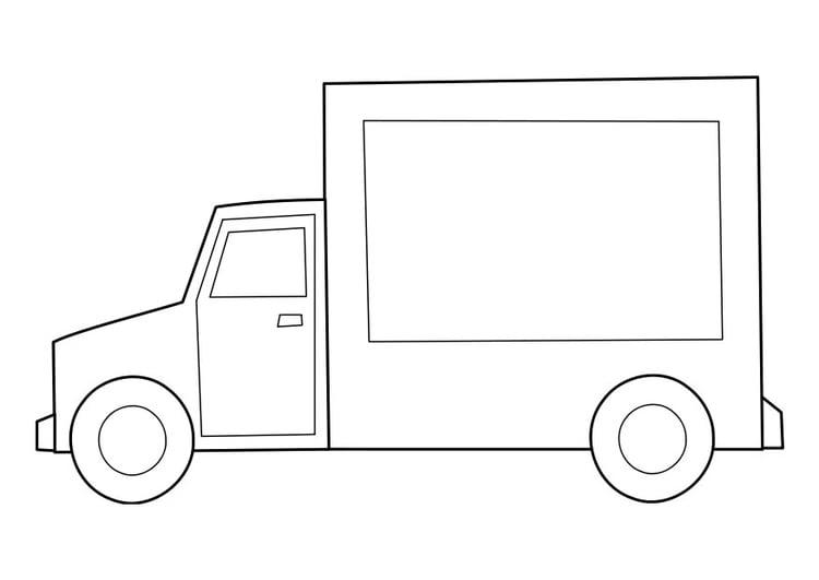 Kleurplaat Vrachtwagen Afb 22847
