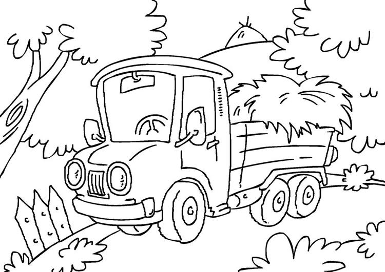 Kleurplaat Vrachtwagen Afb 27167