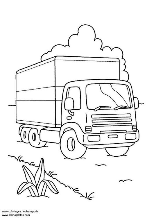 Kleurplaat Vrachtwagen Afb 3098
