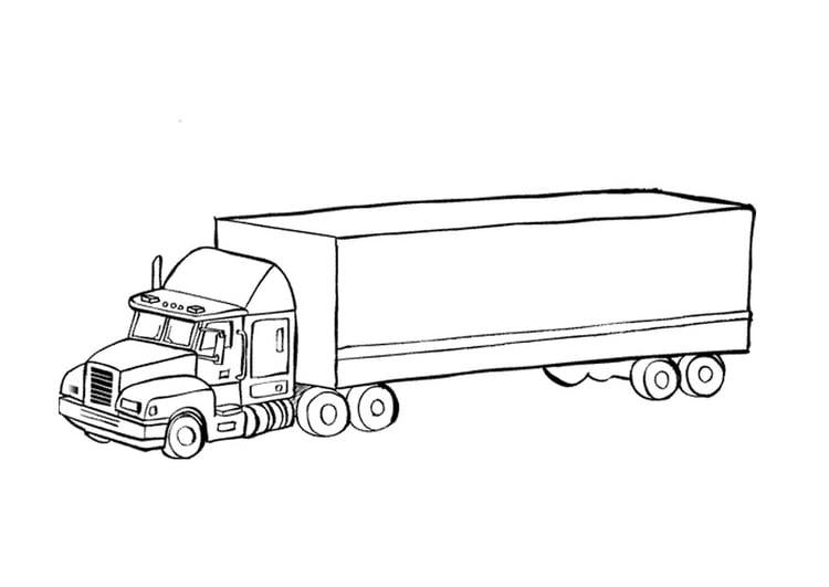 Kleurplaat Vrachtwagen Afb 9674