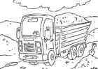 Kleurplaat vrachtwagen