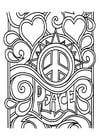 Kleurplaat vrede