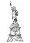 Kleurplaat vrijheidsstandbeeld New York