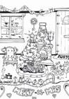 Kleurplaat vrolijk kerstfeest