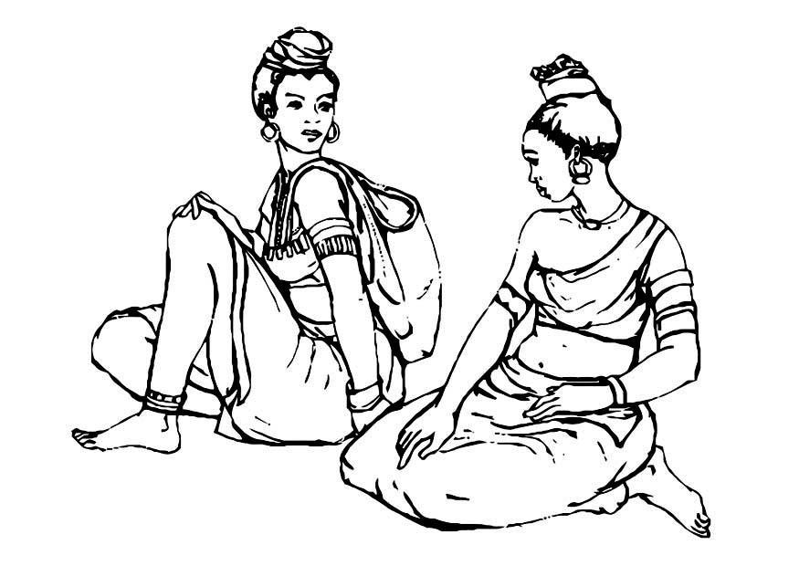 Kleurplaat Vrouwen Afb 10983
