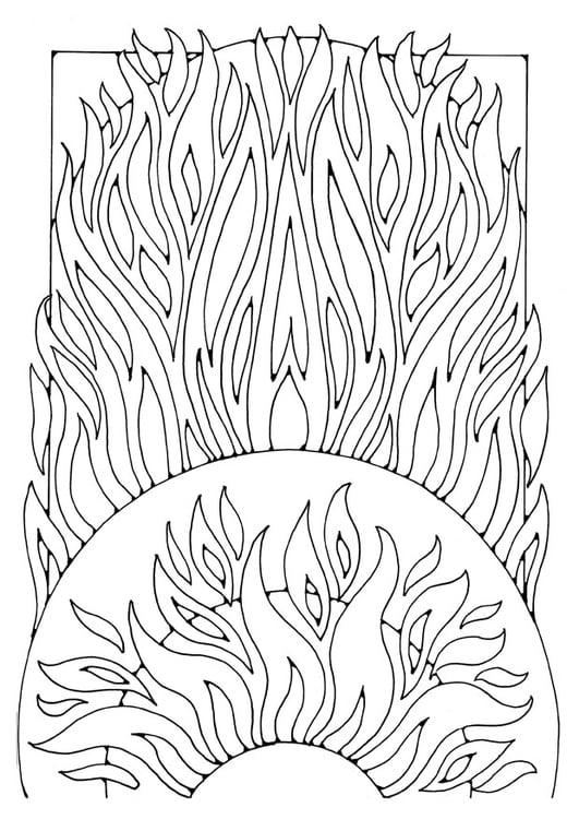 Kleurplaat Vuur Afb 21911