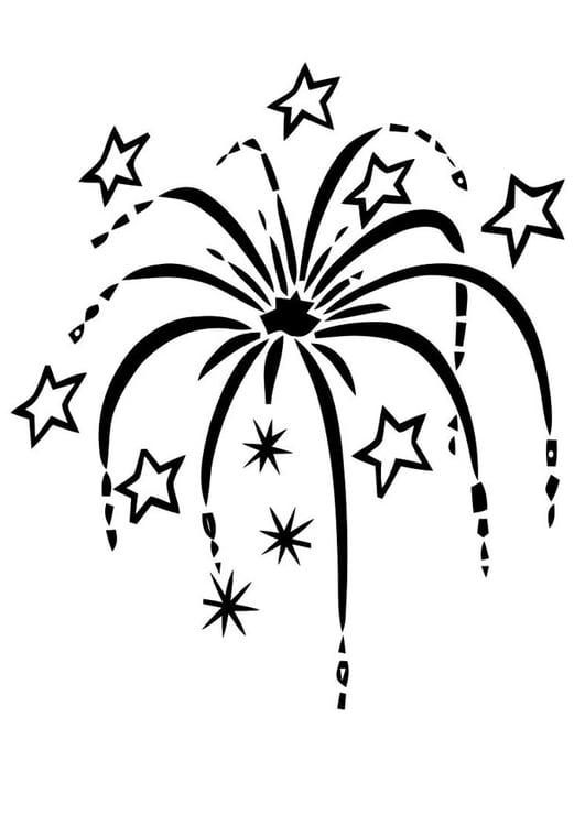 Kleurplaat Vuurwerk Afb 20257