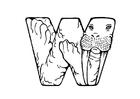 Kleurplaat w-walrus
