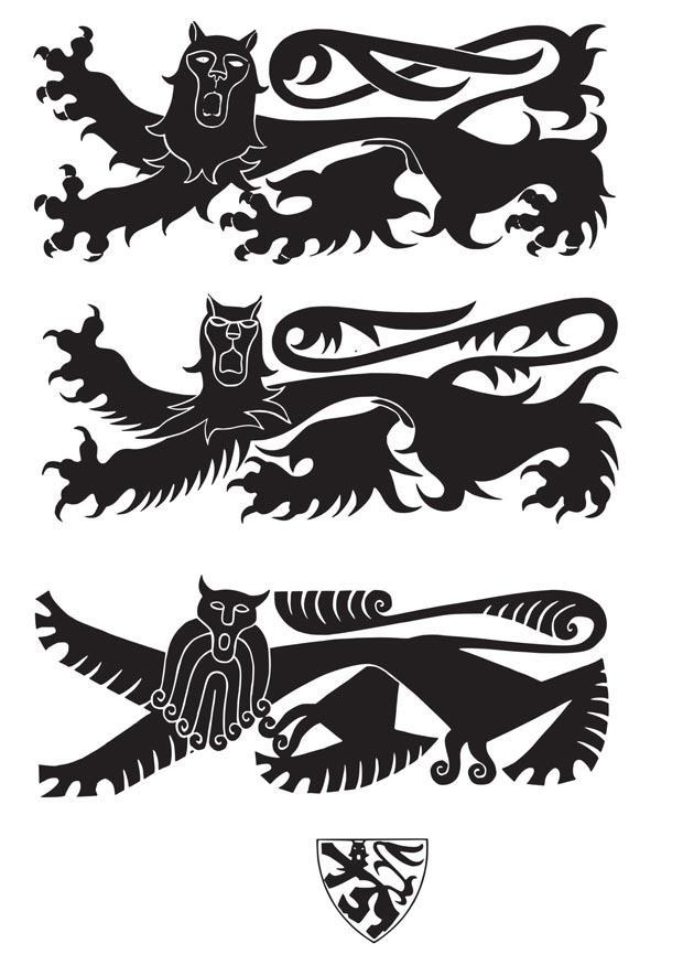 kleurplaat wapenschild met leeuwen gratis kleurplaten om