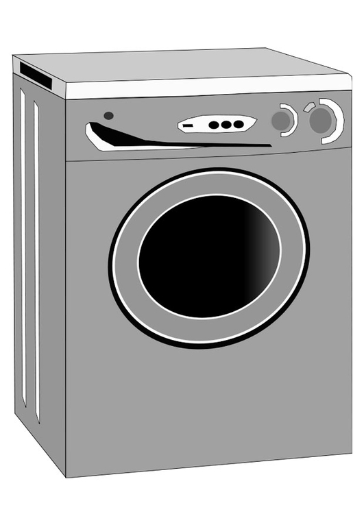 kleurplaat wasmachine afb 22463