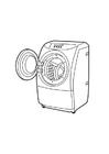 Kleurplaat wasmachine