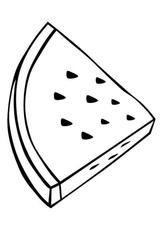 Kleurplaat watermeloen Afb 10373