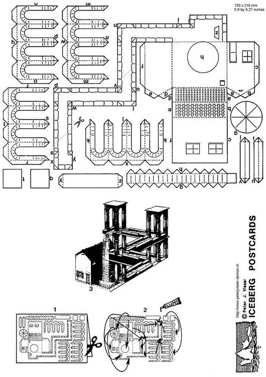 Kleurplaten Waterval.Kleurplaat Waterval Escher Afb 3426