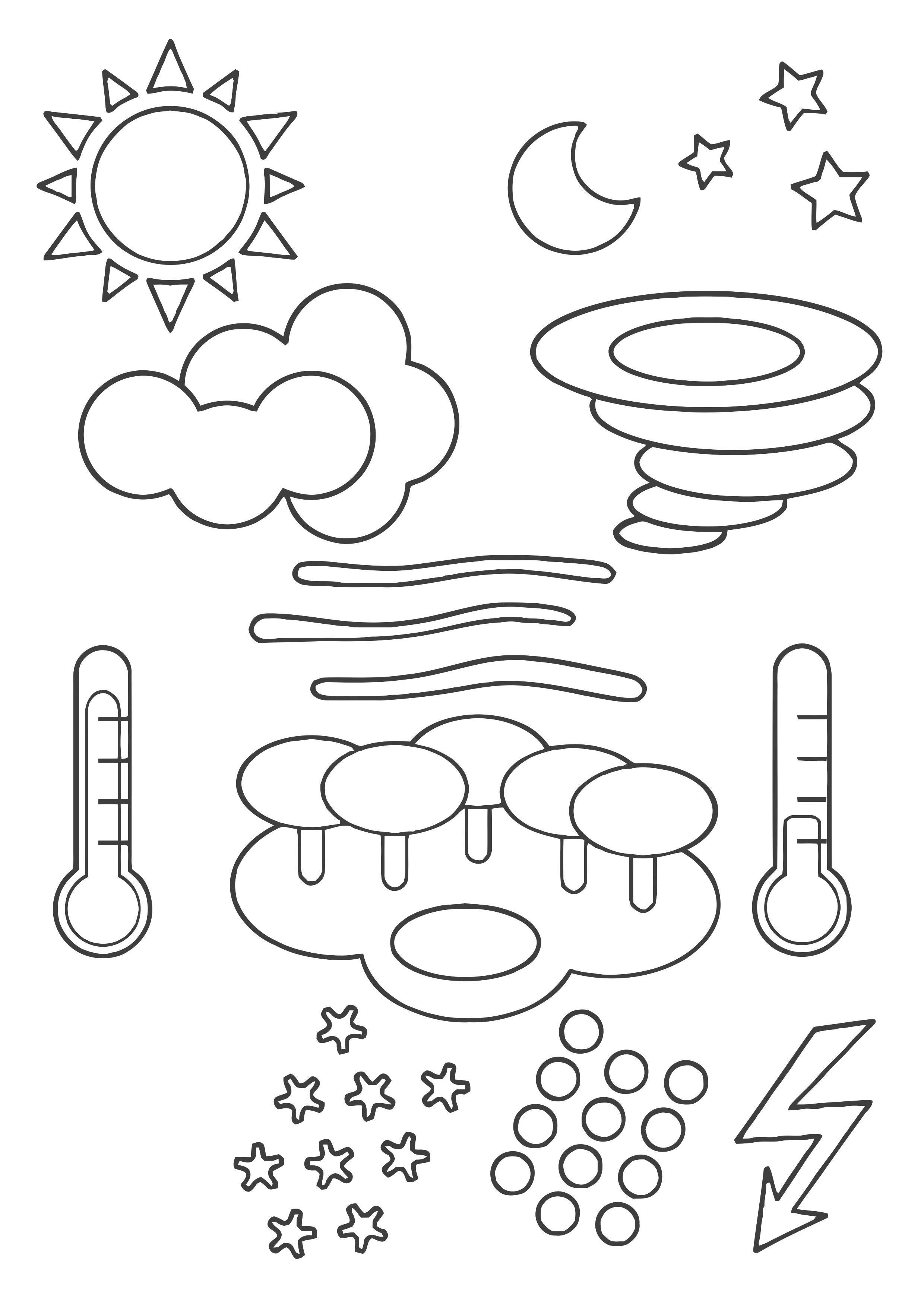 kleurplaat weer symbolen afb 22443