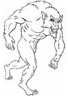 Kleurplaat weerwolf
