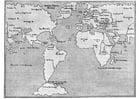 Kleurplaat wereldkaart 1548