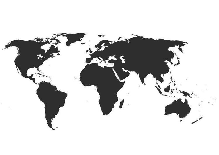 kleurplaat wereldkaart zonder grenzen gratis kleurplaten