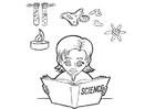 Kleurplaat wetenschap studeren