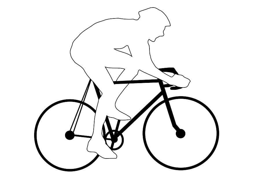 kleurplaat wielrennen afb 28796