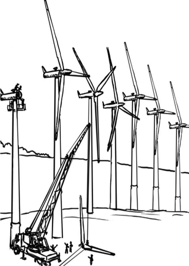 Kleurplaat windmolens
