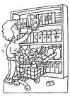 Kleurplaat winkelen