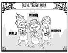 Kleurplaat Winnie - Wally - Wilbur