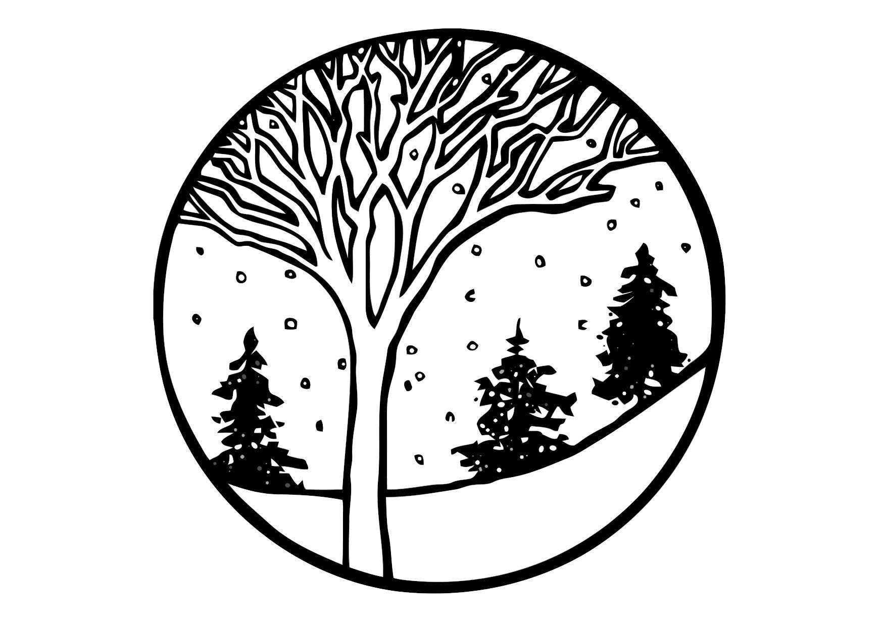 Kleurplaten Seizoen Winter.Kleurplaat Winter Afb 11369 Images