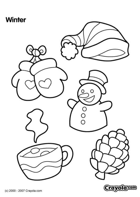 Kleurplaten Voor De Winter.Kleurplaat Winter Afb 7833