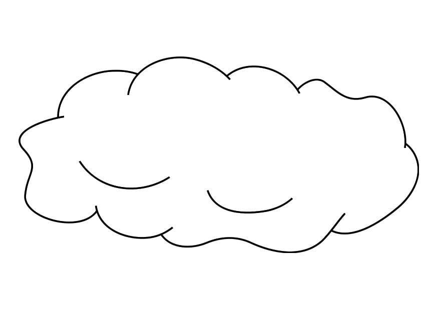 kleurplaat wolk afb 19256