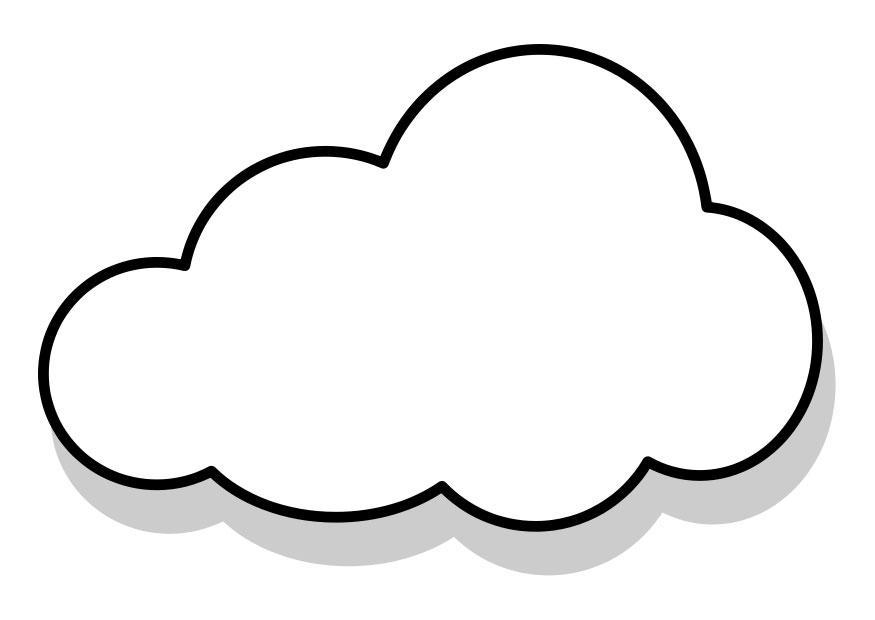 kleurplaat wolk afb 22857