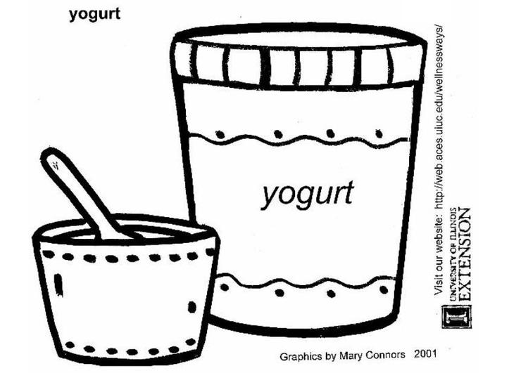 kleurplaat yoghurt gratis kleurplaten om te printen