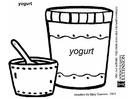 Kleurplaat yoghurt