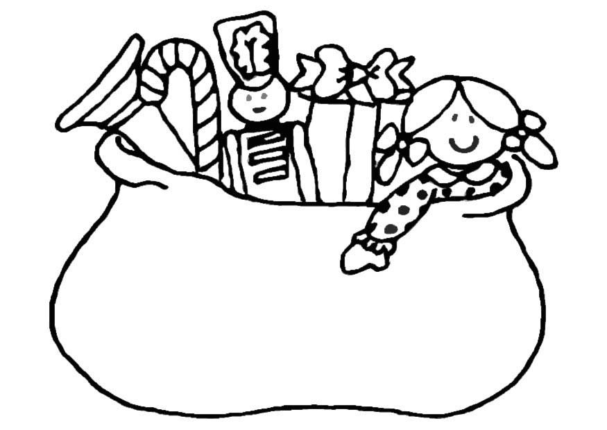 Zak Sinterklaas Kleurplaat Kleurplaat Zak Speelgoed Afb 20593