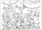 Kleurplaat Zalig Kerstfeest