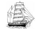 Kleurplaat zeilboot