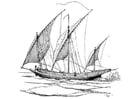 Kleurplaat zeilschip