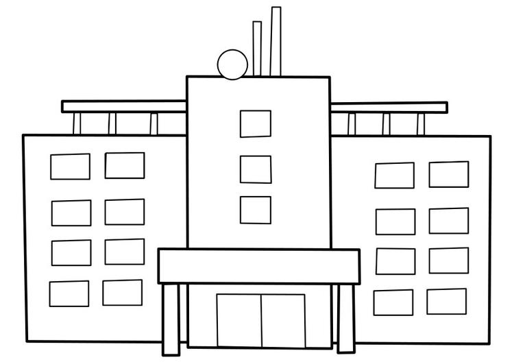 Kleurplaten Van Een Ziekenhuis.Kleurplaat Ziekenhuis Afb 22477