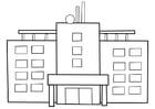 Kleurplaat ziekenhuis