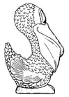 Kleurplaat zijkant pelikaan