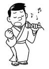 Kleurplaat zingen - karaoke