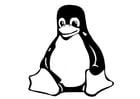 Kleurplaat zittende pinguin