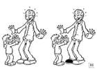 Kleurplaat zoek de verschillen - vaderdag