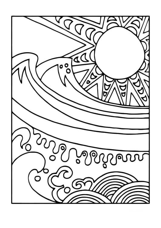 Kleurplaten Zon En Zee.Kleurplaat Zon En Zee Afb 11440