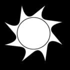 Kleurplaat zon