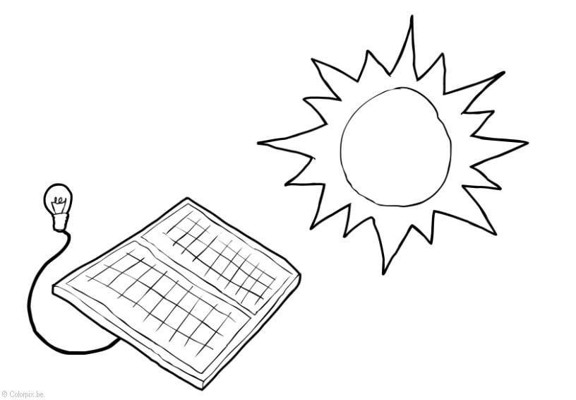 Kleurplaat Milieu Kleurplaat Zonne Energie Afb 28423