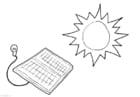 Kleurplaat zonne-energie