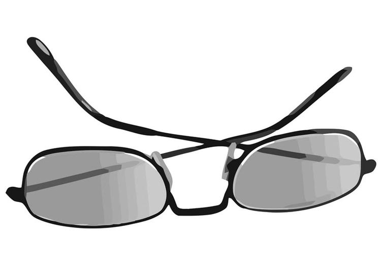 kleurplaat zonnebril afb 19437