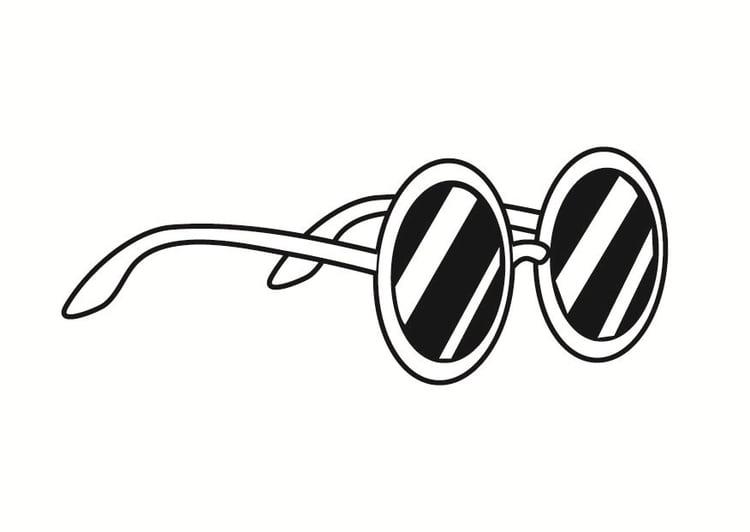 kleurplaat zonnebril afb 23371