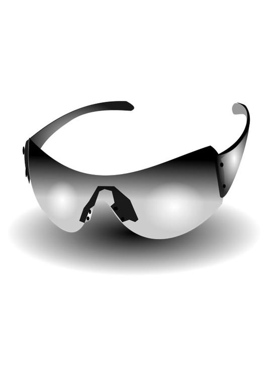 kleurplaat zonnebril afb 25680