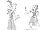 Kleurplaat zoon en dochter van Ramses 2